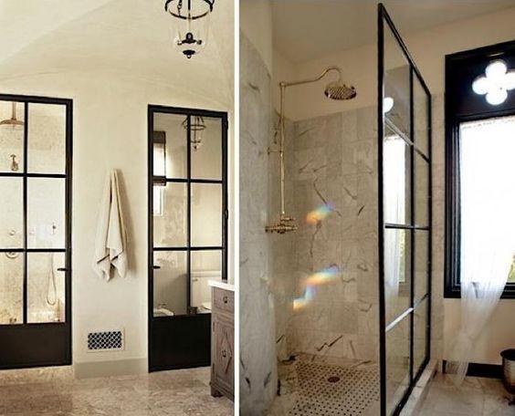 Factory Windows in Two Baths in Malibu, California and Austin, Texas ...: