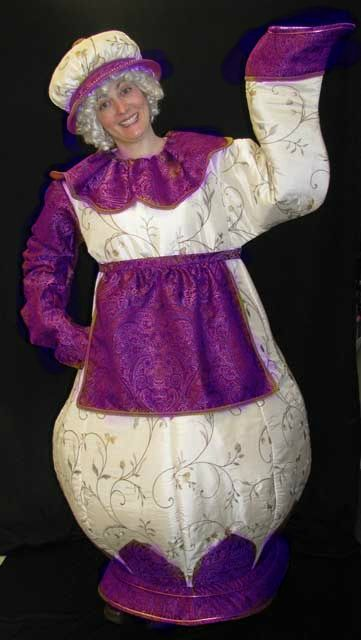 how to make mrs potts costume