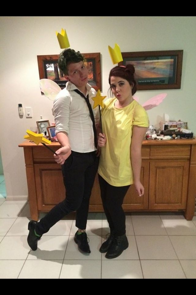 My beautiful friends dress up as Cosmo & Wanda for and 18th Birthday. Did a pretty good job.