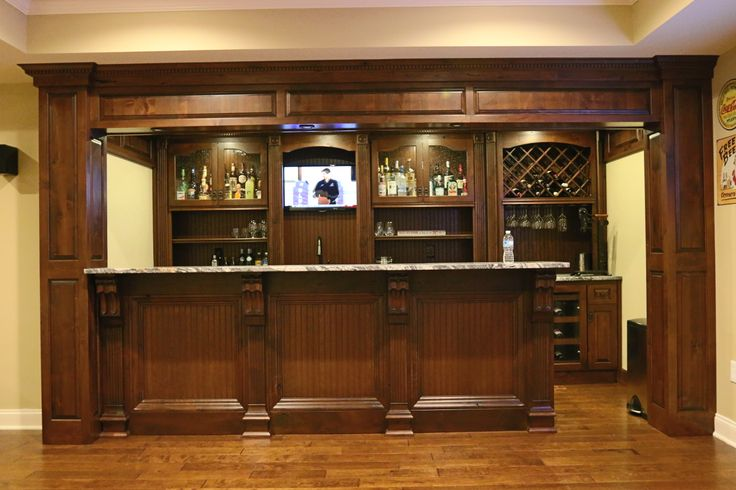 Custom Rustic Alder Bar by Creating Space, Inc. in Roswell GA