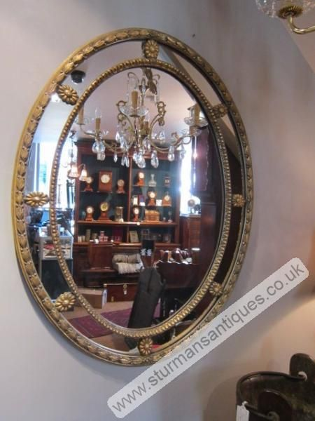 Large 1920's Plaster Gilt Wall Mirror   Sturmans Antiques