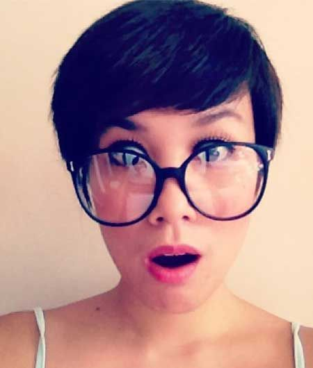Pixie Hair With Hipster Glass