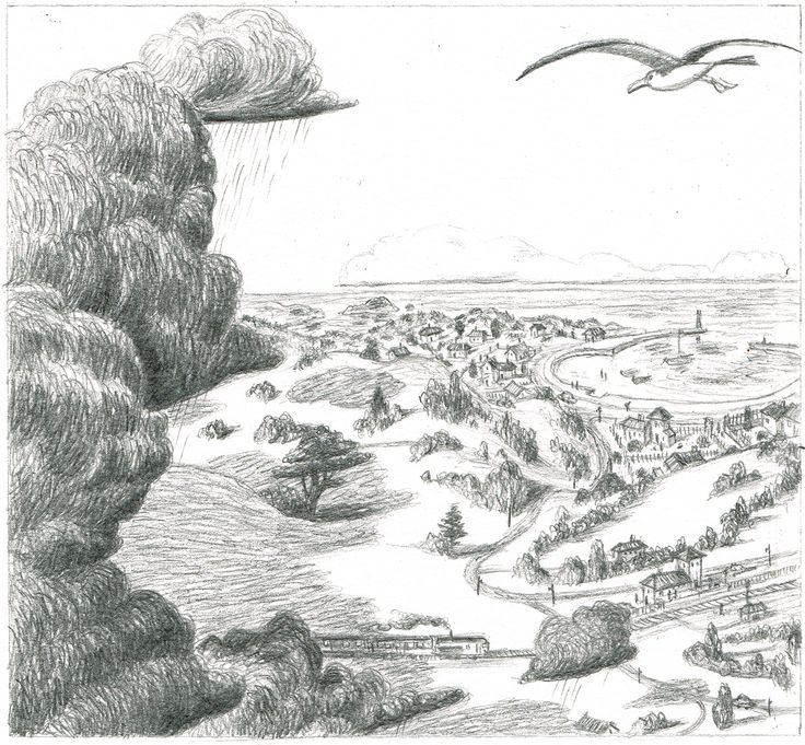 Panel from the story Of the old painter and the see by Marc Legendre