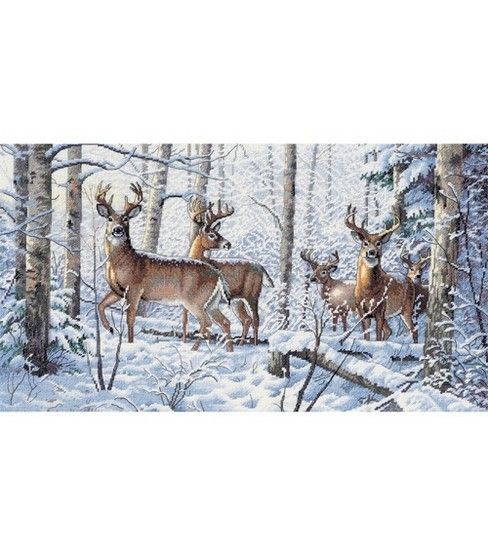 Dimensions Gold Collection Counted Cross Stitch Kit Woodland Winter