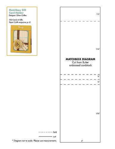 Matchbox Gift Card Holder Pattern | 350 Cards & Gifts Patterns | 350 Cards & Gifts | Paper Crafts