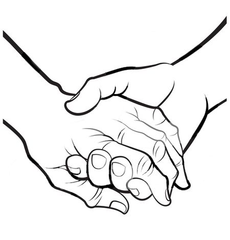 Holding Hands Clipart Black And White Clipart Panda Free ...