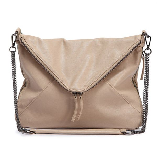 Women Vintage Chain Bag Envelope Bag Double Zipper Shoulder Bag