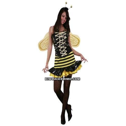 Tu mejor disfraz lady abeja reina adulto para mujer.Este conjunto con vestido de vinilo negro y amarillo y sus bonitas alas, animal es ideal para Despedidas de soltero/a o Carnaval, pero también para cualquier Fiesta de Disfraces, Festival o para sorprender a tu pareja.