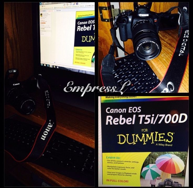Soon as I got the camera I got this book. Lol Canon EOS REBEL t5i for Dummies.