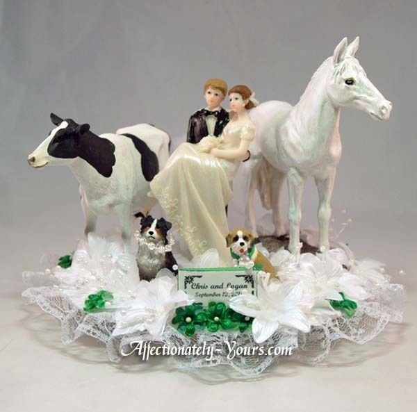 Wedding Cake Plate For Bride And Groom