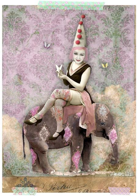 """""""Poor eLefant, a seLf pOrtrait"""" Digital Collage by *itKuPiLLi* 2012"""