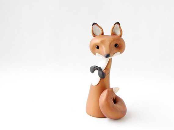 Red Fox Figurine by Bonjour Poupette by BonjourPoupette on Etsy, $50.00