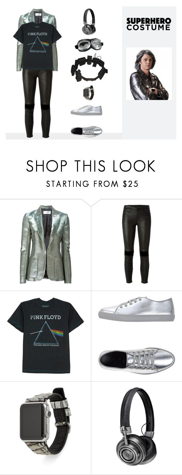 """Quicksilver-Xmen"" by phoenix-fashion ❤ liked on Polyvore featuring Faith Connexion, RtA, Floyd, Gucci, Rebecca Minkoff, Master & Dynamic, Quiksilver, Halloween, 60secondstyle and superherocostume"