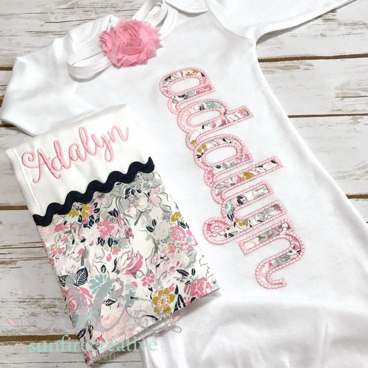 Baby Girl Coming Home Outfit - Personalized Baby Gown - Baby Girl Bring Home Outfit - Newborn Sleeper - Unique Baby Clothes - Monogrammed by sunfirecreative on Etsy https://www.etsy.com/listing/401056011/baby-girl-coming-home-outfit