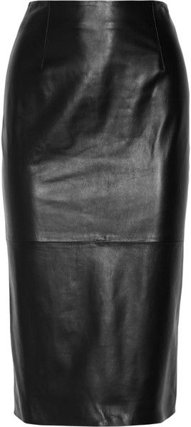 OSCAR DE LA RENTA Leather Pencil Skirt!