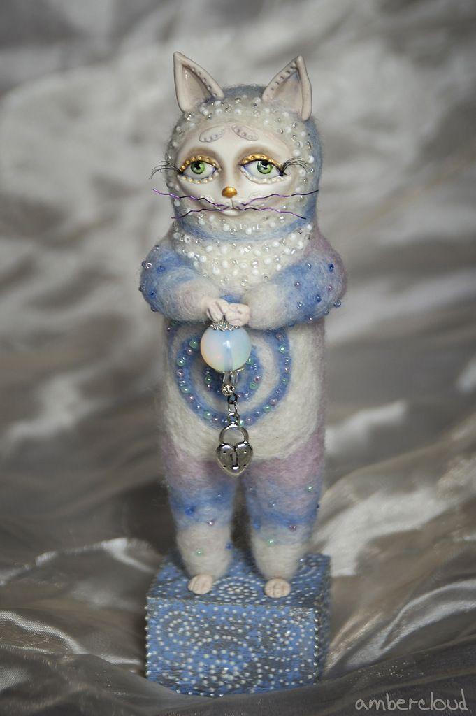 Лунный Котя *** doll, dollart, hand made, ©ambercloud, авторская кукла, catdoll