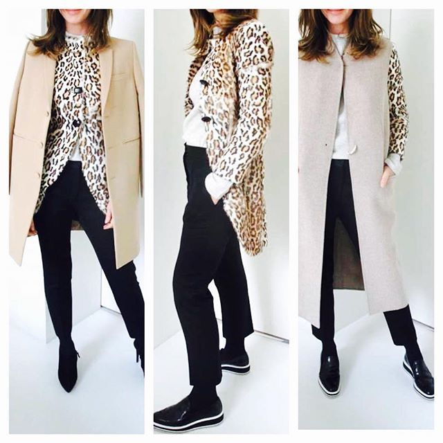 3 ways to wear a faux leopard coat - recharging an old favourite. #shoppinginmywardrobe #howtodressover50 - see more on Trinny.london
