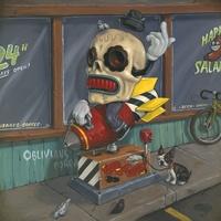 Painting by JONATHAN BERGERON aka Johnny Crap