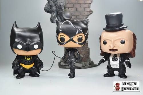 FUNKO POP BATMAN RETURNS CATWOMAN PENGUIN SET OF 3 CUSTOM ACTION FIGURE in Collectibles, Pinbacks, Bobbles, Lunchboxes, Bobbleheads, Nodders, Modern (1970-Now), Funko | eBay