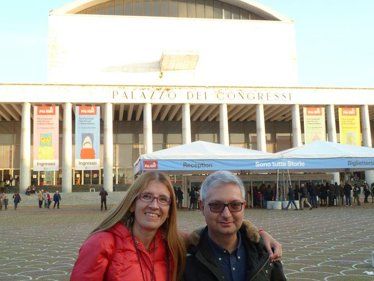 Insieme a Giovanni Venturi all'uscita da Più Libri Più Liberi, 10 dicembre 2016.