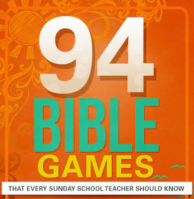 Bible games that teach God's Word.  Great for Sunday School, church parties, or family game night.