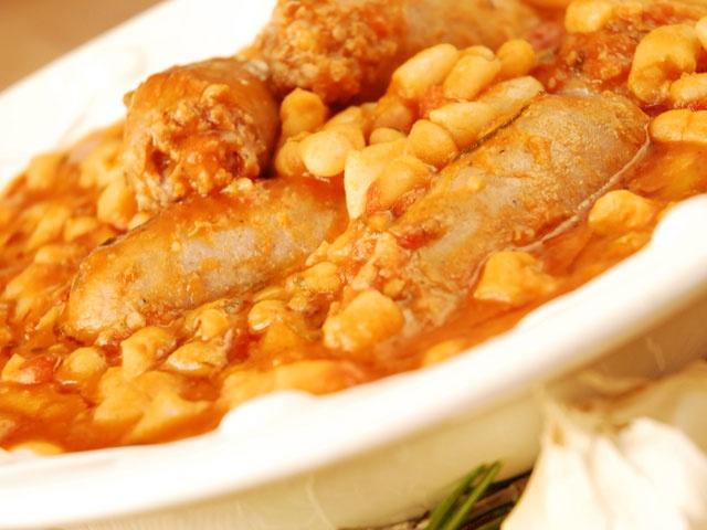 Salsiccie e Fagioli: Pork and Beans from CookingChannelTV.com