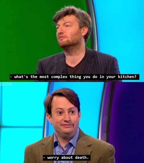 Haha David Mitchell on Would I lie to you, wilty