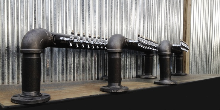 3 Custom Black Iron Pipe beer towers heading to The Fox and Hound Restaurant and Bar  https://www.etsy.com/shop/Tappedbeer  www.tappedbeer.com