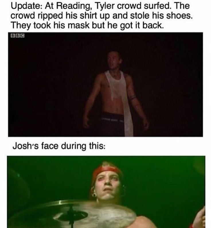 NO GUYS IF YOU LOOK UP VIDEOS YIU CAN HEAR TYLER SCREAM THIS IS NOT OK!!! #respecttylerjoseph!!!!!^_^