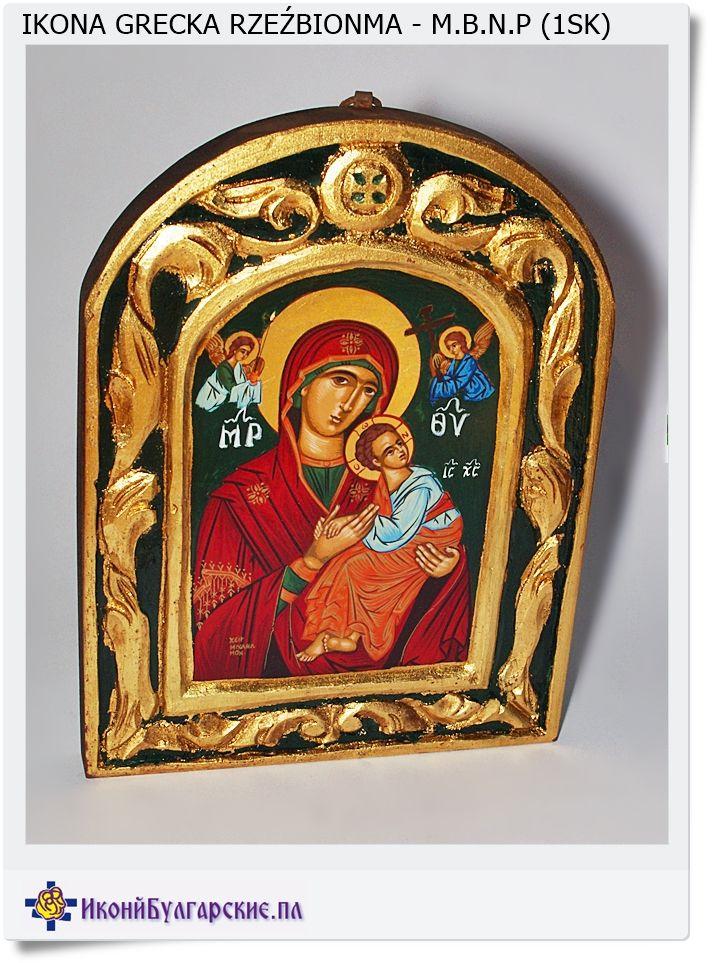Grecka ikona rzeźbiona Matka Boska nieustającej pomocy