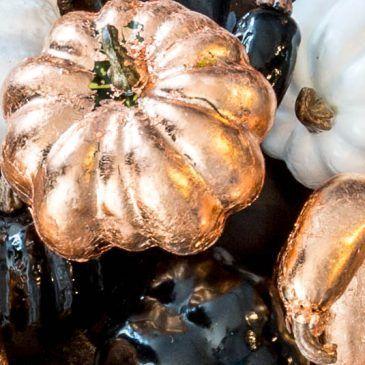 How To Make Copper Leaf Fake Pumpkins