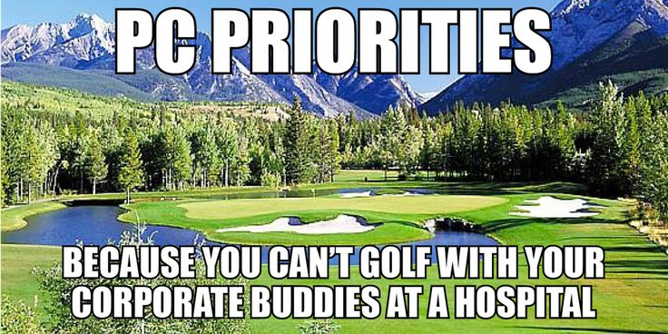 We think hospital infrastructure should come before luxury private golf courses. RT if you agree.