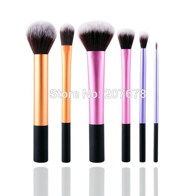 6 Adet Pro Teknikleri Toz Kozmetik Makyaj Fırçalar Kit Set Vakıf Araçları Allık Göz Farı Fırçalar