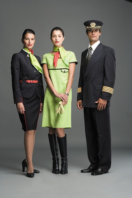 Air Portugal,  the most stylish of the flight attendants crew.