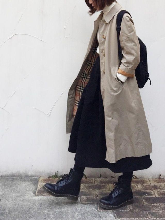 d2ed817b91c おしゃれさんが履いている♡大人女子の「ドクターマーチン」冬コーデ ...