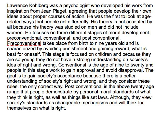 lawrence kohlberg theory of moral development pdf