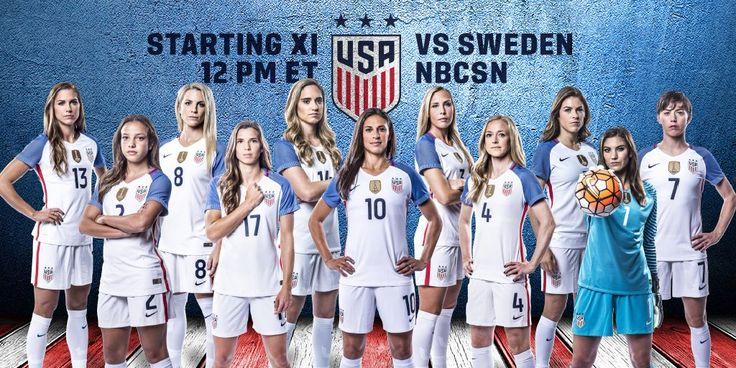 NBC Olympics Retweeted  U.S. Soccer WNT @ussoccer_wnt  12h12 hours ago #USAvSWE Starting XI: Solo; O'Hara, Johnston, Sauerbrunn, Klingenberg; Long, Brian, Lloyd (c); Heath, Morgan, Pugh.