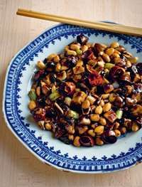 Vegetarian 'gong bao chicken'