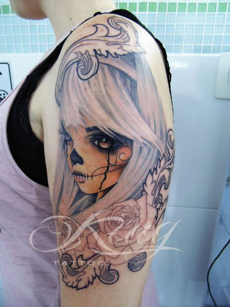 neo traditional catrina tattoo calavera new school king tattoo pinterest traditional. Black Bedroom Furniture Sets. Home Design Ideas