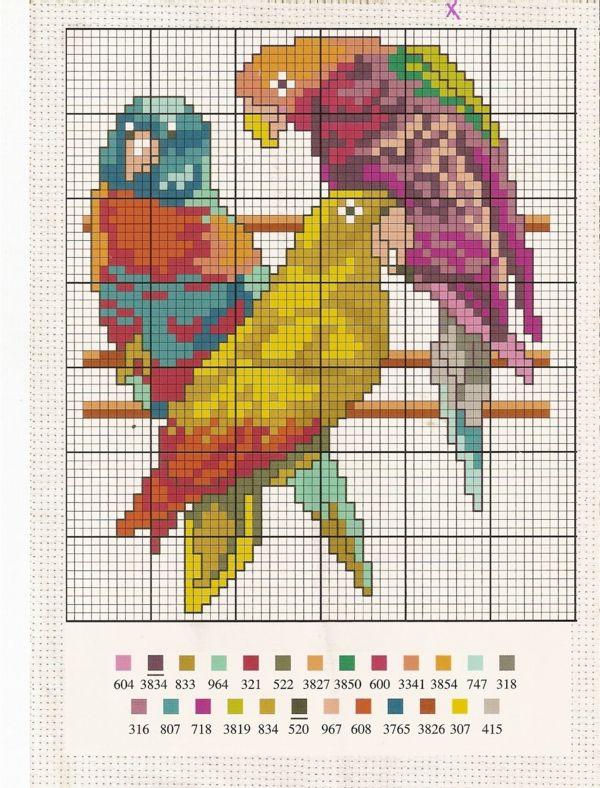 Blog de iza :AU PLAISIR DE BRODER, peruche avec code couleurs