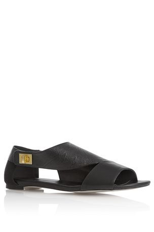 Vamp asymetric sandals from Next Direct