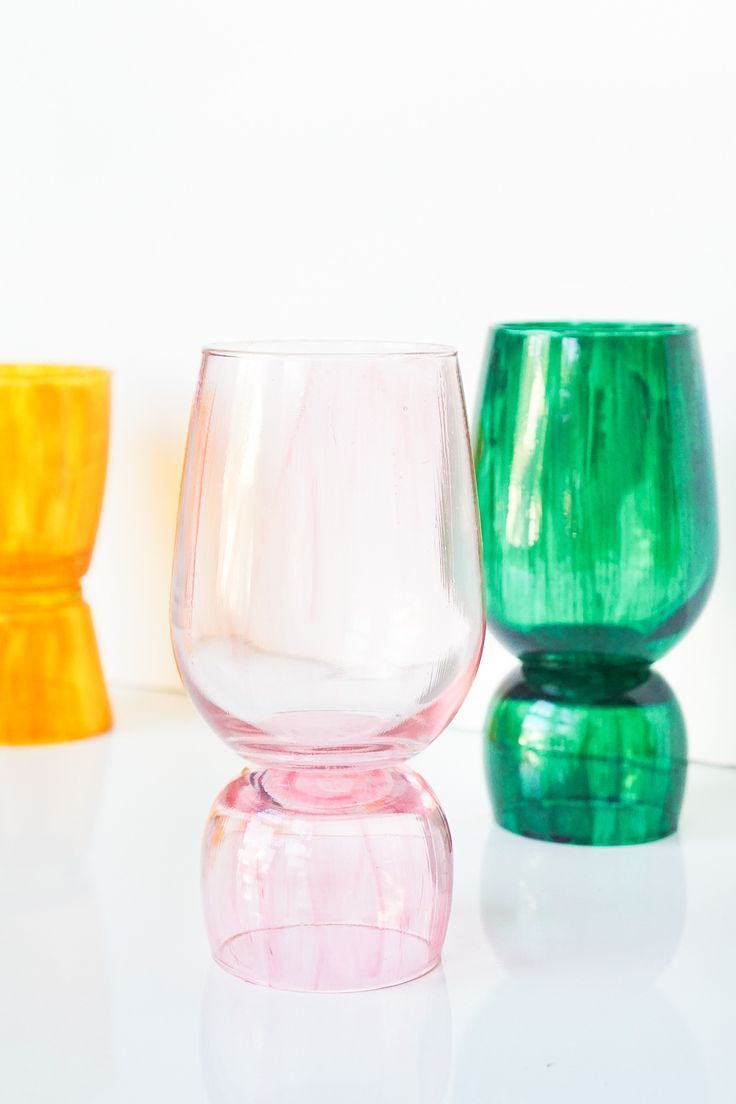DIY Color-Glazed Stacked Vases by top Houston lifestyle blogger Ashley Rose of S...