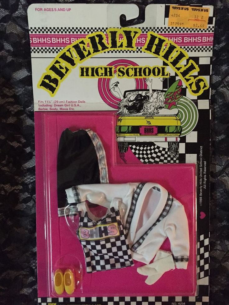 Vintage 1988 #4254 BBI Toys International Beverly Hills High School Doll Fashion #BBI