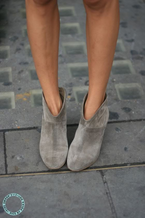 Fashion | Shoes | grey suede booties : Maje