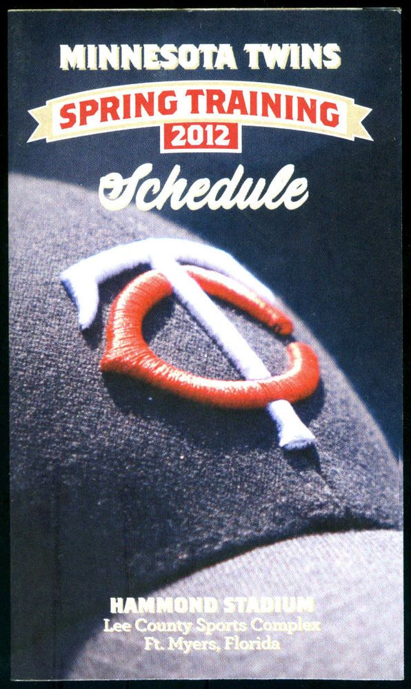 2012 MINNESOTA TWINS BUDWEISER SPRING TRAINING POCKET SCHEDULE FREE SHIPPING #Pocket #MinnesotaTwins #PocketSchedules