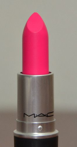 Mac 'Candy Yum Yum' Matte Neon Pink Lipstick.. I have this shade I love it!! Definitely a fun summer color