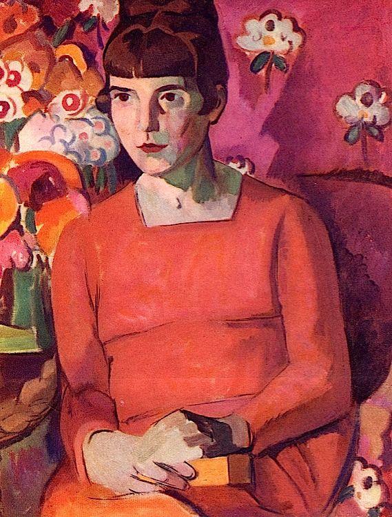 Portrait Of Katherine Mansfield By Anne Estelle Rice . 1920s