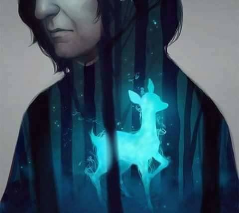 Turquoise | Aqua | digital art | Harry Potter fanart, Severus Snape, doe patronus