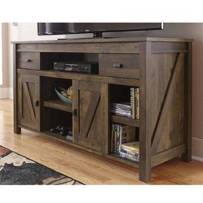 Rustic Tv Stand Console Up To 60 Barn Wood Farmhouse Home ...