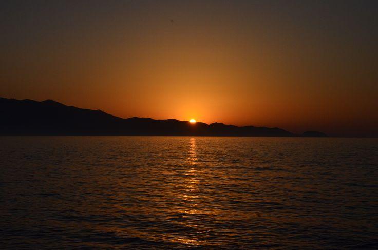 sunset at heraklion...Crete!